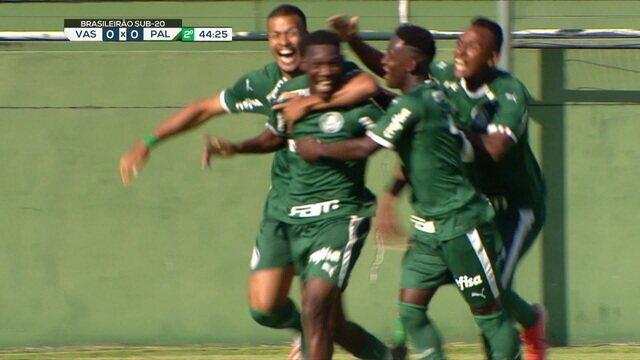 O gol de Vasco 0 x 1 Palmeiras pelo Campeonato Brasileiro sub-20