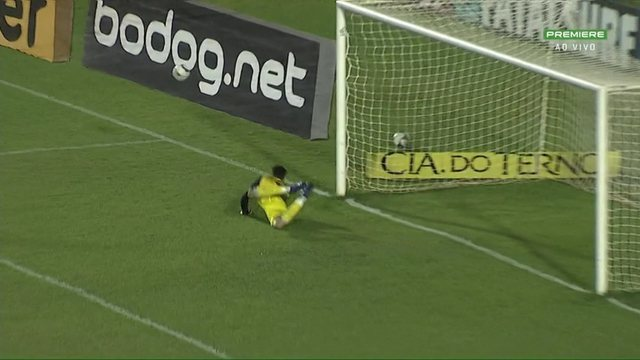 Londrina x Botafogo-SP: Murilo chuta, e César faz boa defesa, aos 37 do 2º tempo