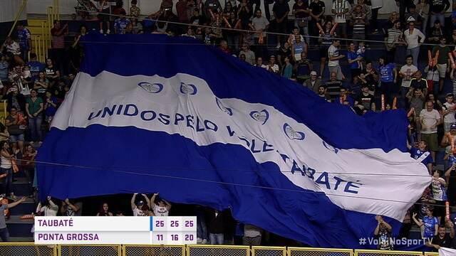 Os pontos finais de Taubaté 3 x 0 Ponta Grossa pela Superliga de Vôlei Masculino