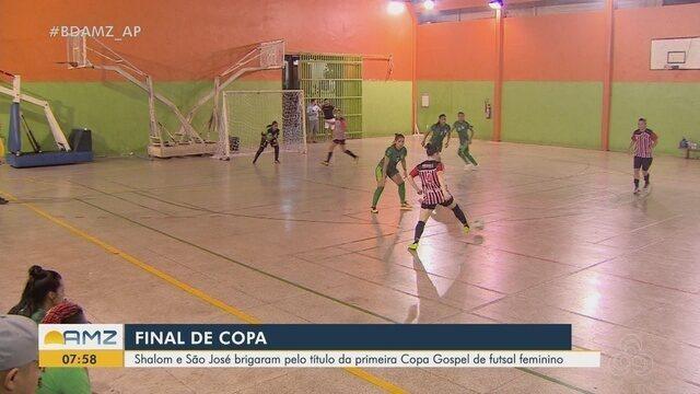 Shalom e São José se enfrentaram na final da 1ª Copa Gospel de Futsal Feminino no AP
