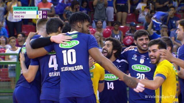 Os pontos finais de Cruzeiro 3 x 0 Sesc pela Superliga de Vôlei