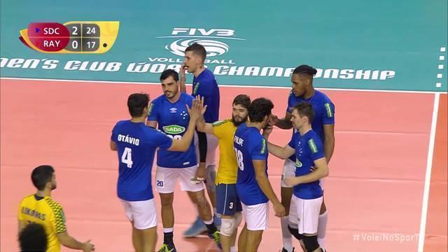 Pontos finais de Cruzeiro 3 x 0 Al Rayan pelo mundial de clubes de vôlei masculino