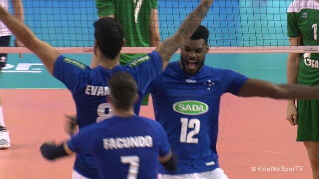 Pontos finais de Cruzeiro 3 x 0 Zenit pelo Mundial de Clubes de Vôlei Masculino