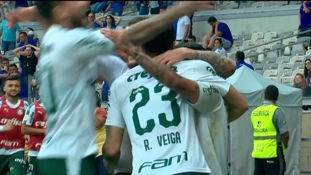 Gol do Palmeiras! Raphael Veiga cruza e Zé Rafael abre o placar, aos 11' do 2ºT