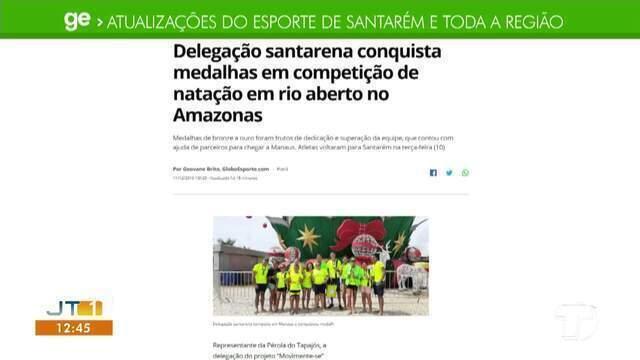 Santarenos que venceram competição no Amazonas são destaque no GE Santarém e região