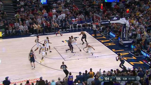 Melhores momentos de Golden State Warriors 106 x 114 Utah Jazz pela NBA