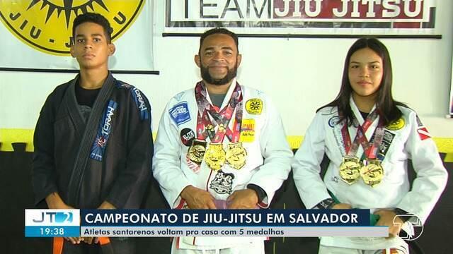 Atletas santarenos conquistam cinco medalhas em mundial na Bahia