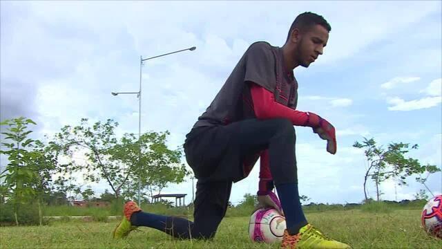 De férias em Rondônia, Gabriel, do Hidrolandense, conta como começou no futebol