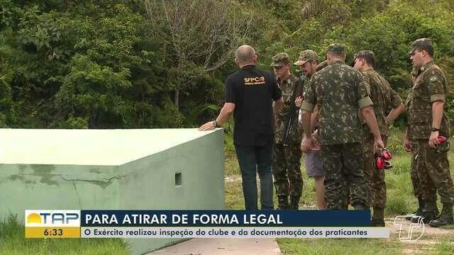 Exército Brasileiro realiza vistoria no clube de tiro em Santarém