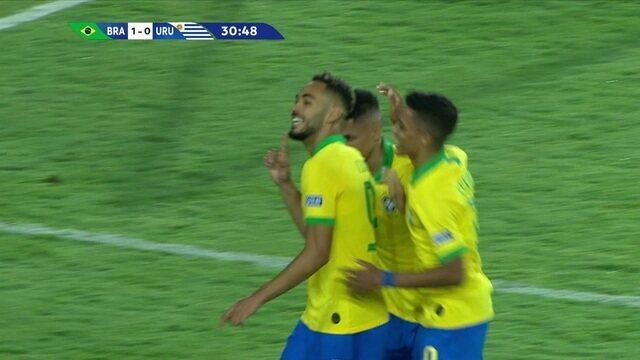 Gols de Brasil 3 x 1 Uruguai pelo Pré-olímpico de futebol sub-23