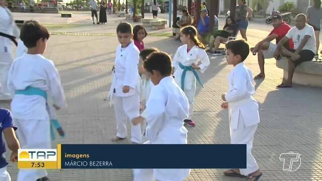 Academia de Karatê realiza treinos em espaços públicos em Santarém