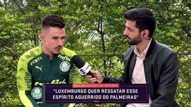 Atacante do Palmeiras, Willian participa do Seleção