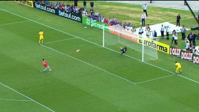 Os pênaltis de Internacional 1 (3) x (1) 1 Grêmio pela final da Copa São Paulo