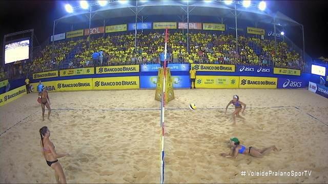 Pontos finais: Juliana/Josi 0x2 Ana Patrícia/Rebecca pela semifinal do Campeonato Brasileiro de vôlei de praia