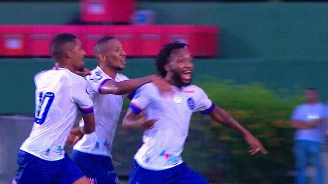 Os gols de Bahia 2 x 0 Vitória da Conquista pela 2ª rodada do Campeonato Baiano