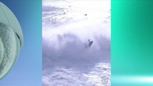 Surfista português sofre acidente no Circuito Mundial de Ondas Grandes