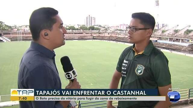 Tapajós enfrenta Castanhal neste domingo em Santarém