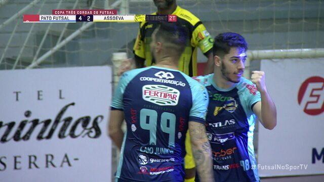 Gols de Pato Futsal 5 x 2 Assoeva pela disputa do 3º lugar da Copa Três Coroas de Futsal