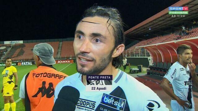 """Apodi fala após derrota: """"Isso tem acontecido, a gente desliga do jogo"""""""