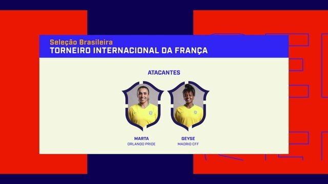 """Seleção feminina é convocada para Torneio da França e jornalista diz: """"Está no caminho certo"""""""