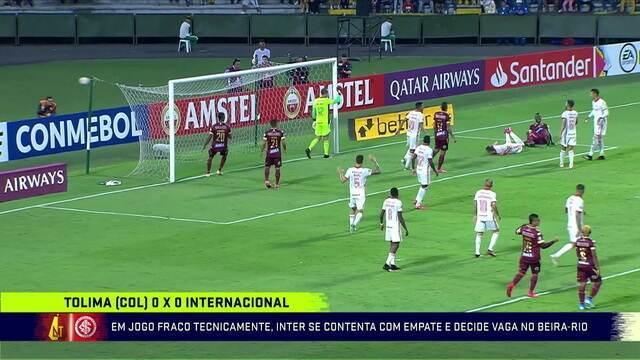 Tolima e Internacional empatam pela Libertadores
