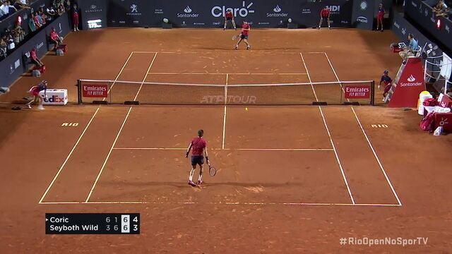 Thiago Wild faz grande jogo contra Borna Coric, mas perde nas oitavas do Rio Open