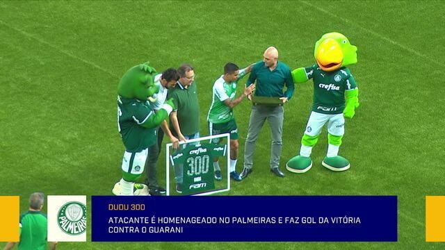 Comentaristas falam de Dudu, que é homenageado pelo Palmeiras