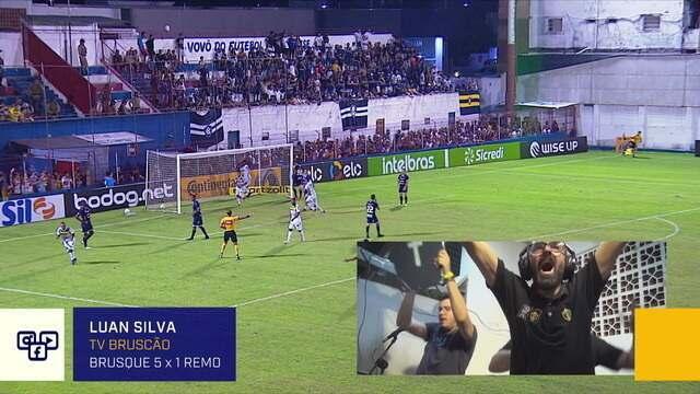 Confira a narração da TV Bruscão para o gol de Thiago Alagoano do Brusque contra o Remo