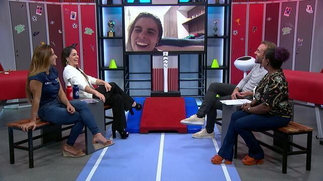 Boleiragem: Roger recebe as ginastas Jade Barbosa, Daniele Hypólito e Daiane dos Santos