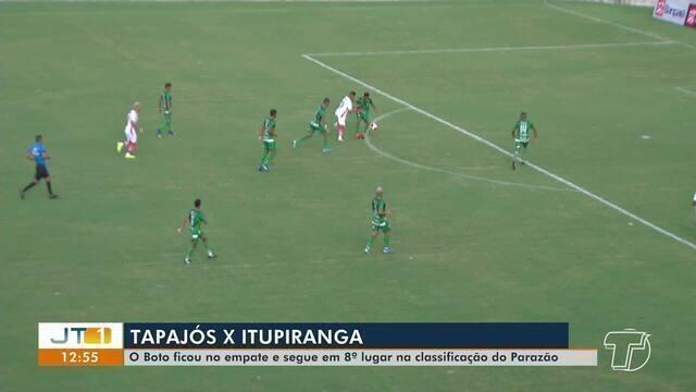 Esporte: Boto empata com o Itupiranga e continua na 8ª posição no Campeonato Paraense