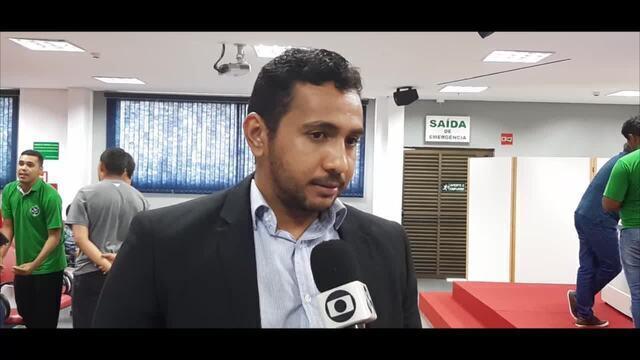 Allan Almeida, do corpo jurídico do União Cacoalense, fala sobre possível desistência