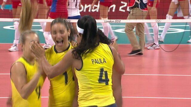 Melhores momentos de Rússia 2 x 3 Brasil pelas Olimpíadas de Londres 2012