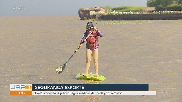 Praticantes do stand up paddle voltam ao Rio Amazonas seguindo regras de saúde e segurança