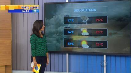 Frente fria provoca chuva e alerta para temporais nesta sexta-feira no RS