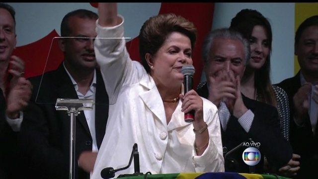 Dilma se diz 'disposta ao diálogo' e afirma que país não está dividido