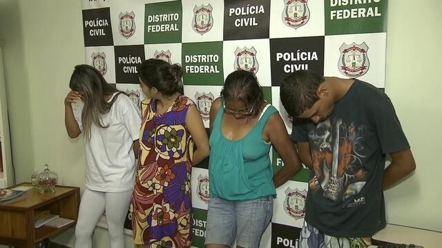 Família é presa suspeita de traficar drogas no Recanto das Emas