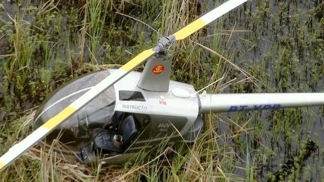 [Brasil] Helicóptero faz pouso forçado em pântano na Zona Oeste do Rio 4023645