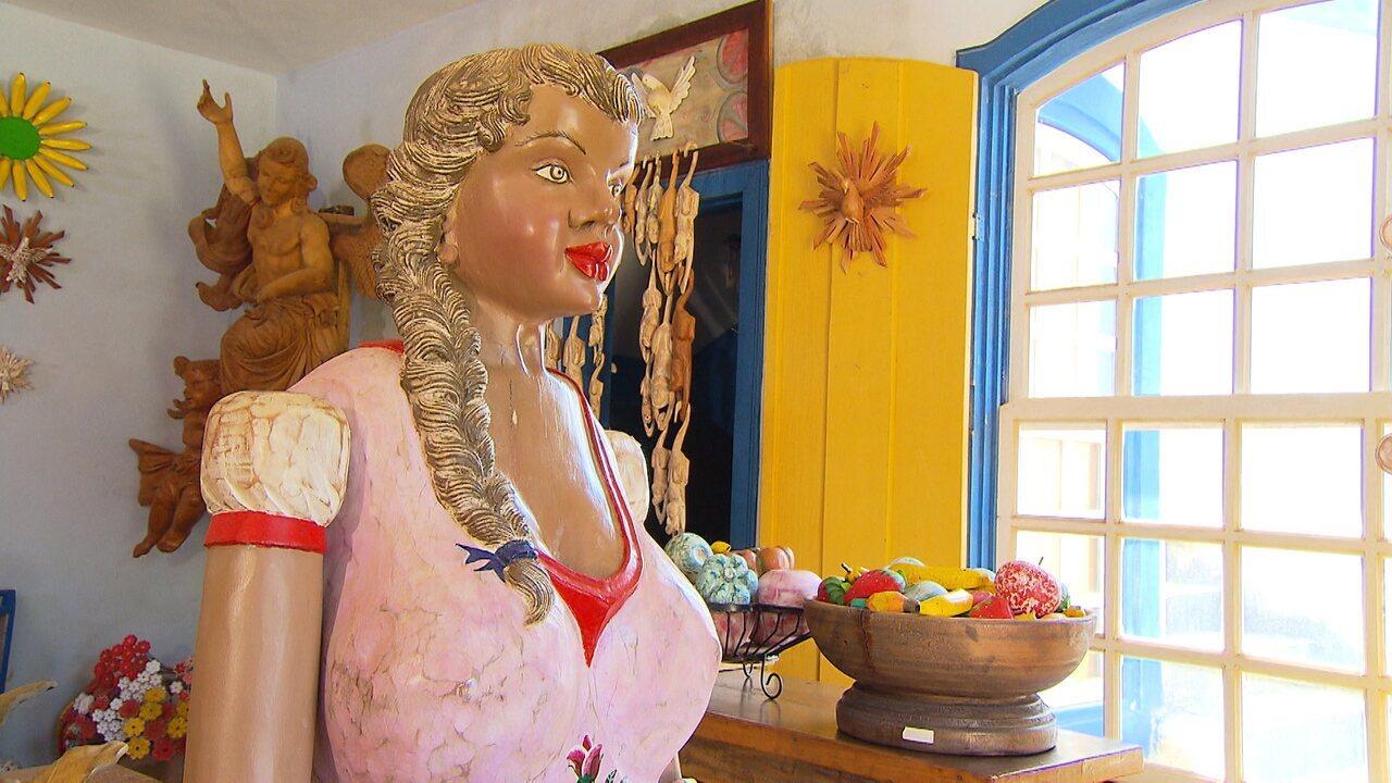 Artesanato Natal Em Feltro ~ Distrito de Tiradentes,'Bichinho'é polo de artesanato em Minas Globominas Terra de Mi