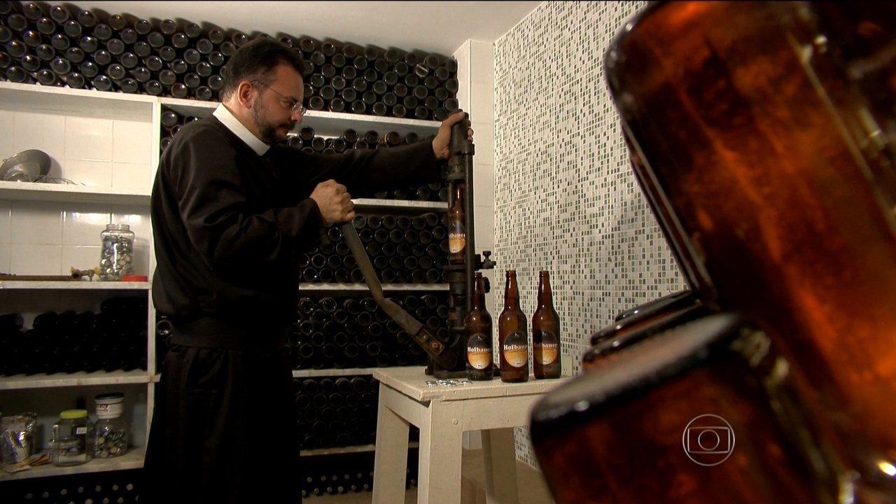 Artesanato Com Eva Para Vender ~ Igreja em Juiz de Fora tem fábrica de cerveja artesanal Fantástico O Show da Vida Vídeos