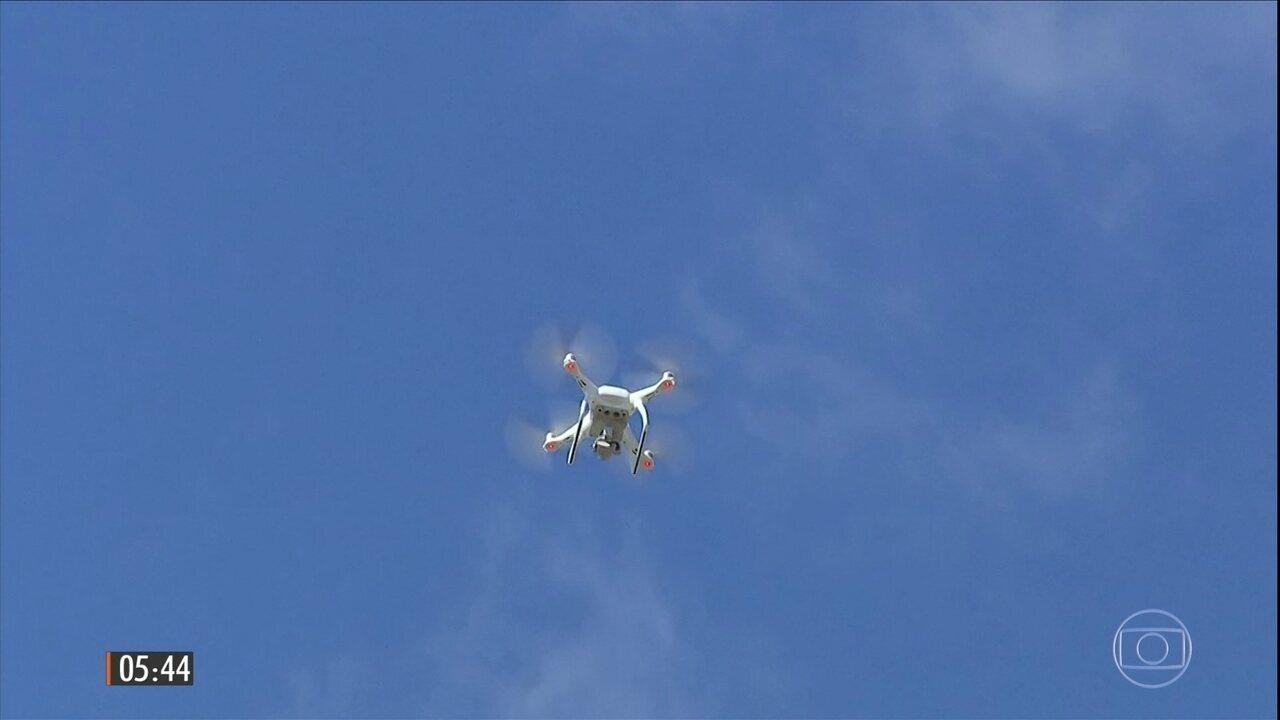 Polícia Rodoviária Federal testa uso de drones para fiscalizar estradas