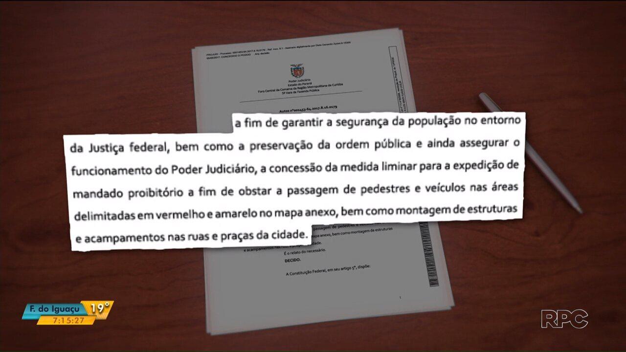 Prefeitura de Curitiba consegue liminar que proíbe acampamentos na cidade, nesta semana
