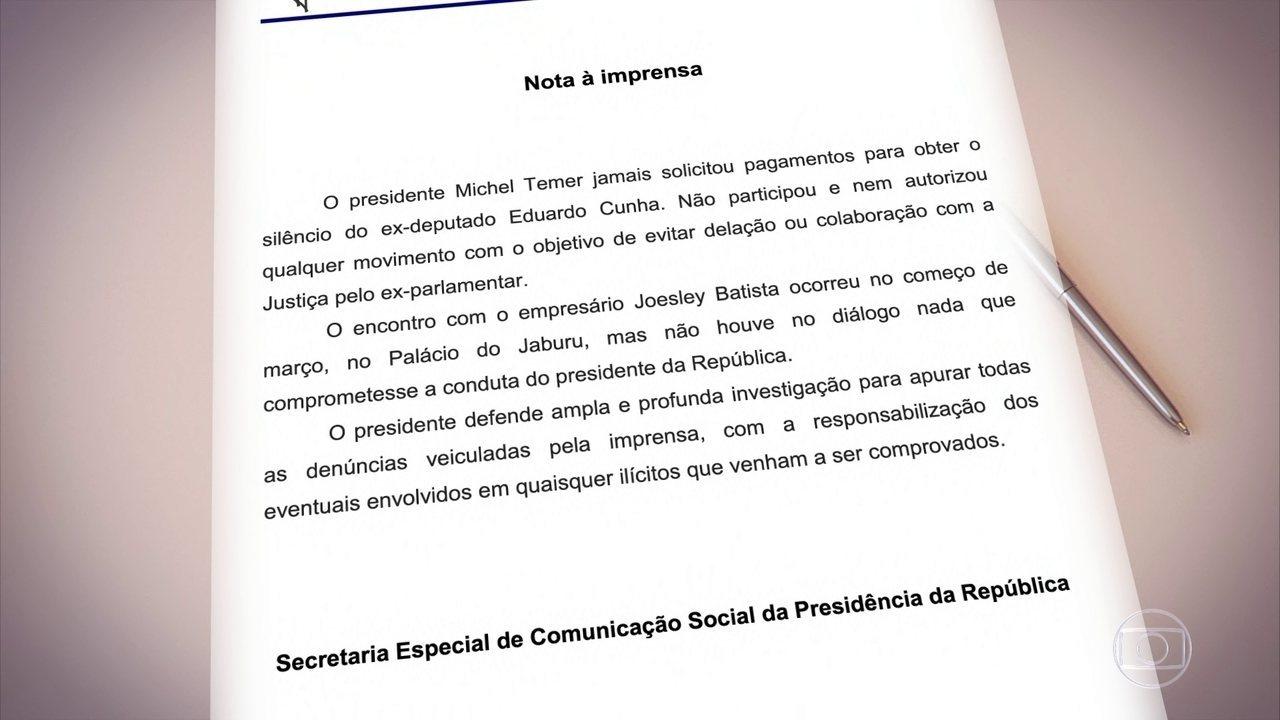 Reação do Palácio do Planalto foi dizer que acusações não procedem