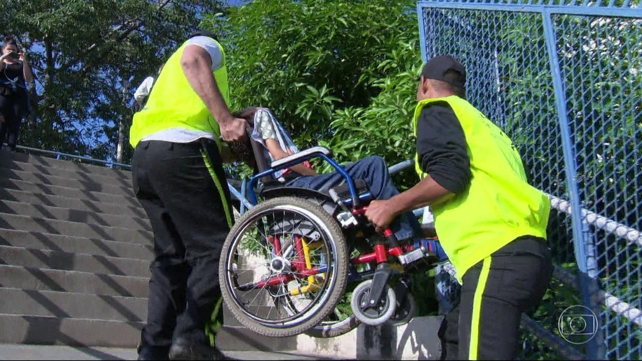 Resultado de imagem para Lei que obriga estações de metrô e trem a instalarem rampas para cadeirantes entra em vigor no Rio