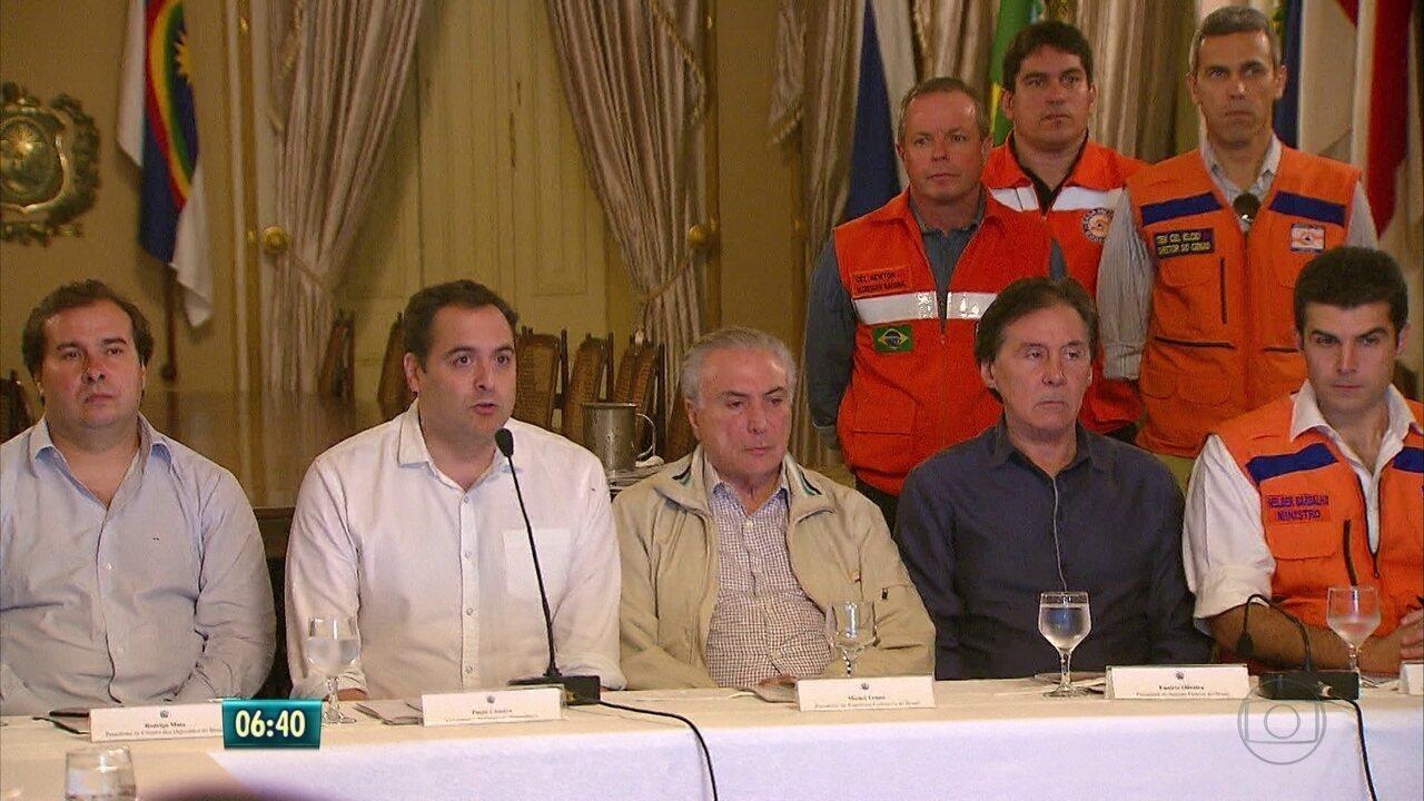 Temer diz estar disponível empréstimo de R$ 600 milhões para obras em PE