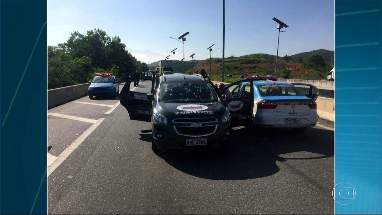 Dois vigilantes são mortos no Arco Metropolitano