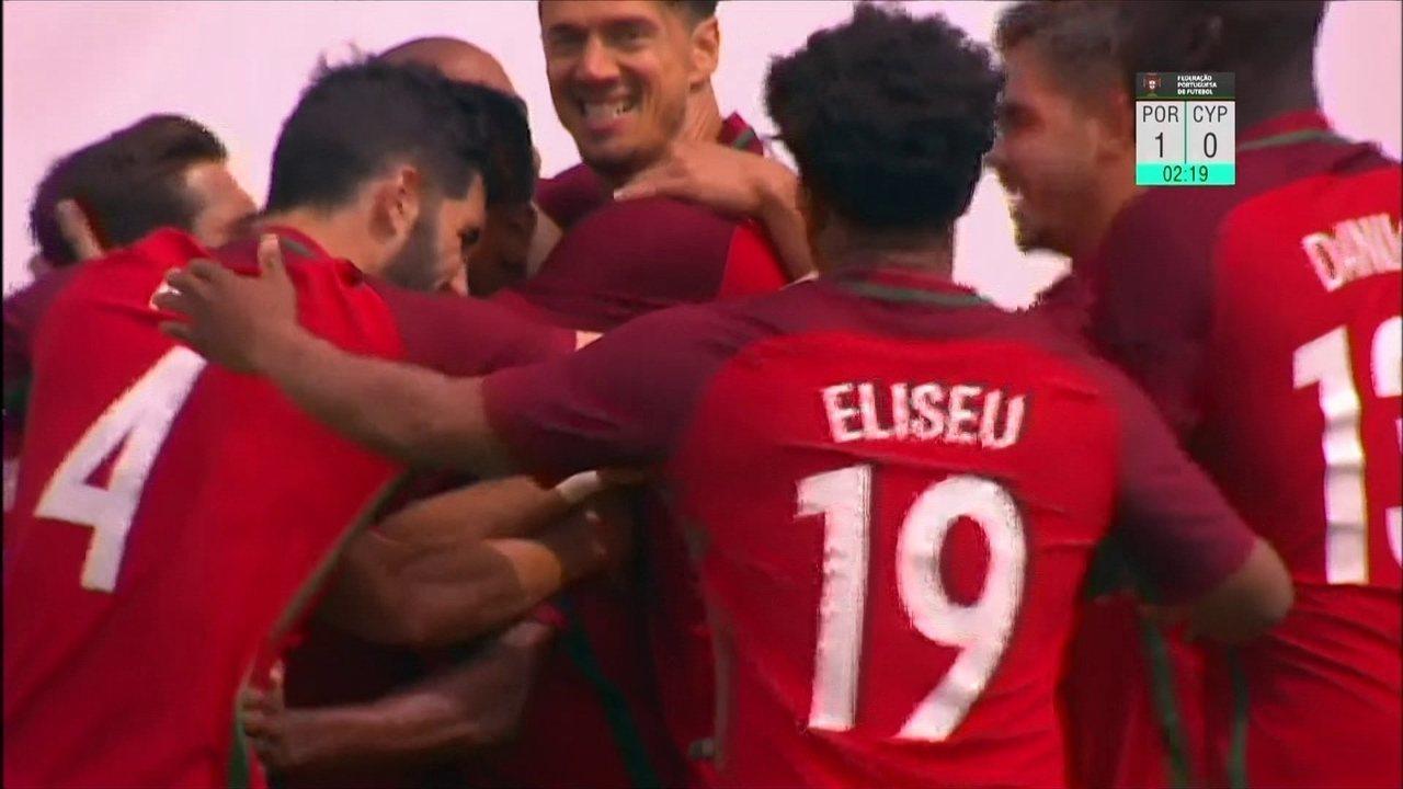 Os gols de Portugal 4 x 0 Chipre em amistoso internacional de futebol