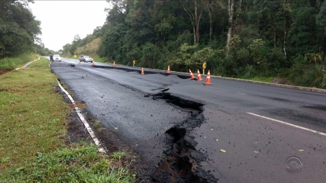 SC tem alterações nas rodovias por causa da chuva