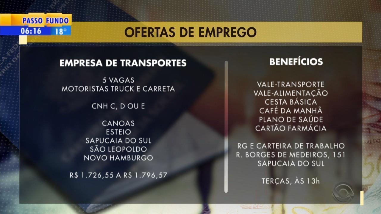 9371d64fe07 Empresa de transportes tem vaga para motoristas com CNH C