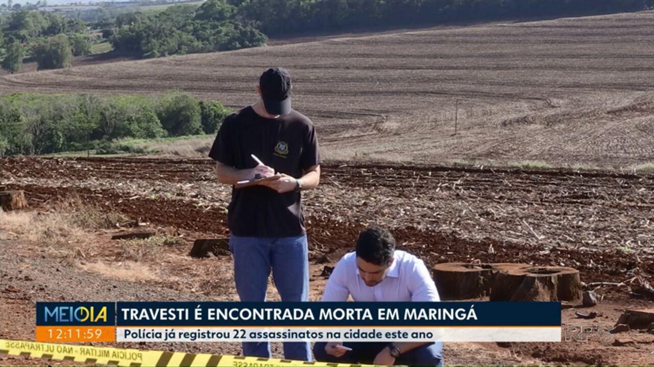 Travesti é encontrada morta em Maringá - G1 Paraná - vídeos - Catálogo de  Vídeos 120ea6282ce6d