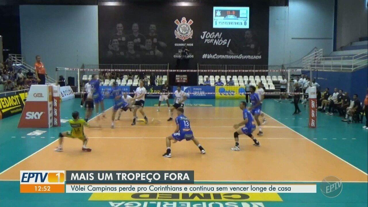 Vôlei Campinas perde pro Corinthians e continua sem vencer longe de casa -  G1 São Paulo - Vídeos - Catálogo de Vídeos e5feb1d25d